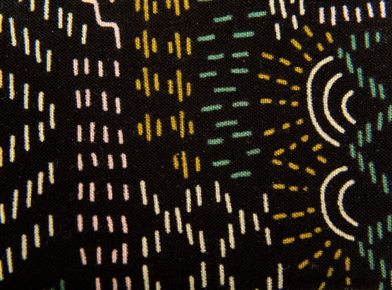 pochette à savon pattern noir
