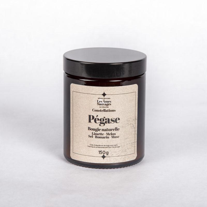 bougie Pégase Les Âmes Sauvages limette romarin melon sel