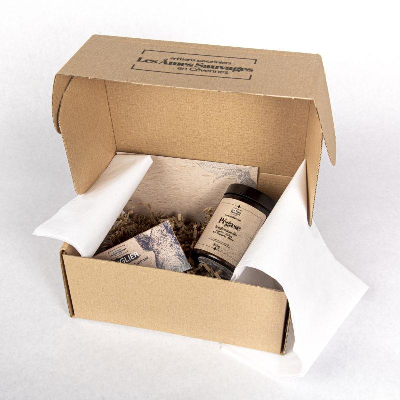 Exemple de composition coffret cadeau Les Âmes Sauvages